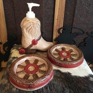 Donisa 1992 marked ceramic western bathroom set